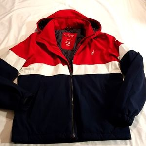 Nautica men's quilted jacket small hood